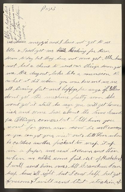 Letter from Stella Oblinger to Laura I. Oblinger, Sadie Oblinger, and Nettie Oblinger, April 24, 1887
