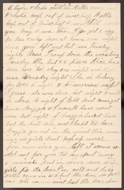 Letter from Stella Oblinger to Laura I. Oblinger, Sadie Oblinger, and Nettie Oblinger, April 8, 1887