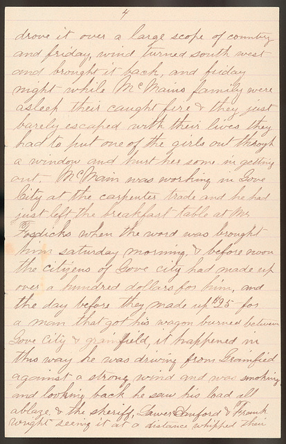 Letter from Uriah W. Oblinger to Laura I. Oblinger, Sadie Oblinger, and Nettie Oblinger, April 10, 1887