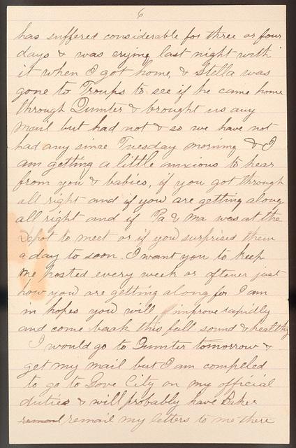 Letter from Uriah W. Oblinger to Laura I. Oblinger, Sadie Oblinger, and Nettie Oblinger, April 10, 1887