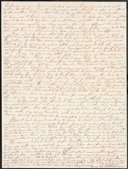 Letter from Uriah W. Oblinger to Laura I. Oblinger, Sadie Oblinger, and Nettie Oblinger, May 28, 1887