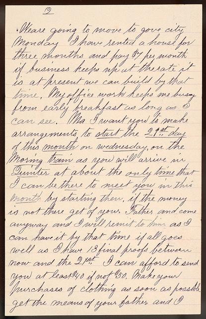 Letter from Uriah W. Oblinger to Laura I. Oblinger, Sadie Oblinger, Nettie Oblinger, September 3, 1887