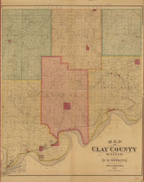 Map of Clay County, Missouri /