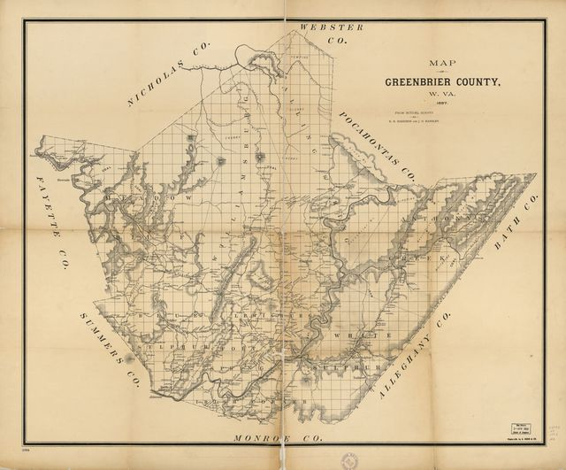 Map of Greenbrier County, W.Va. : from actual survey /