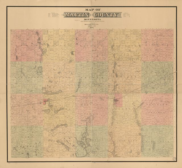 Map of Martin County, Minnesota : from personal examinations and public records.