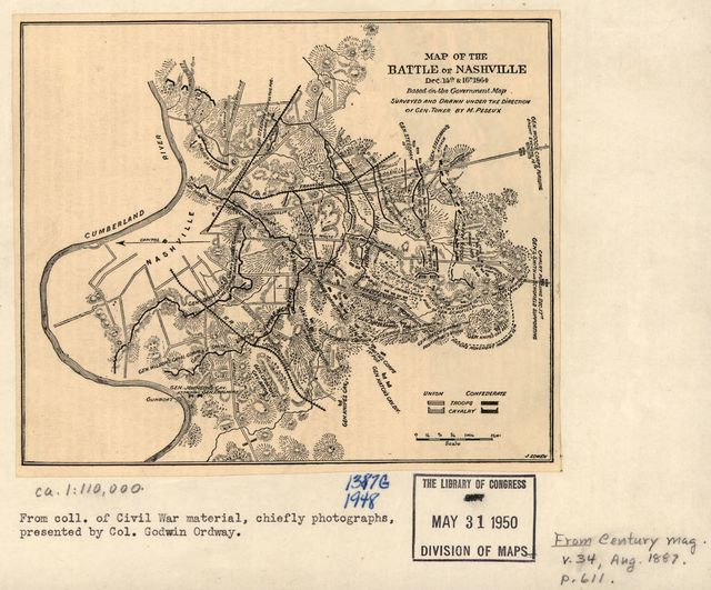 Map of the battle of Nashville, dec. 15th & 16th 1864