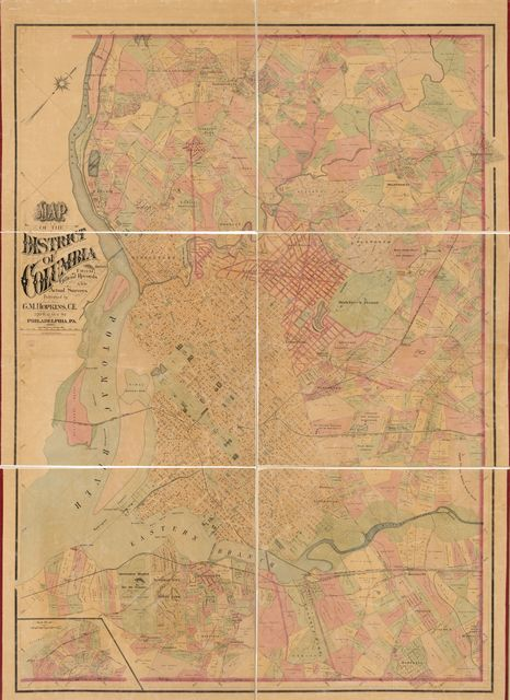 Map of the District of Columbia from official records and actual surveys /
