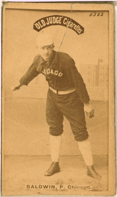 [Mark Baldwin, Chicago White Stockings, baseball card portrait]