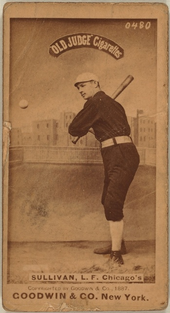 [Marty Sullivan, Chicago White Stockings, baseball card portrait]