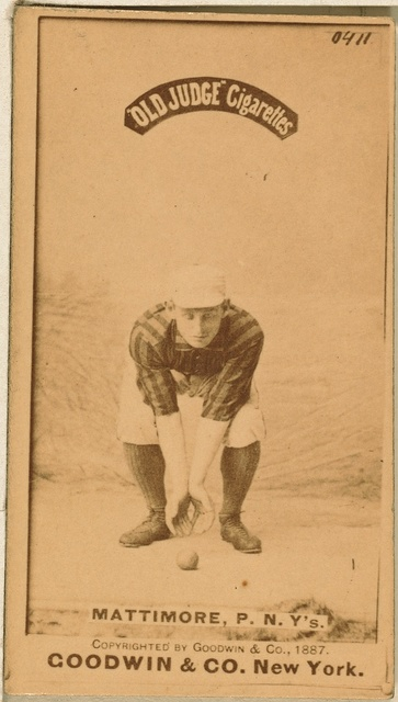 [Mike Mattimore, New York Giants, baseball card portrait]