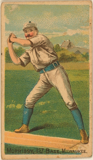 [Morrissey, Milwaukee Team, baseball card portrait]