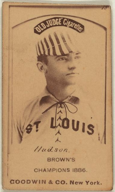 [Nat Hudson, St. Louis Browns, baseball card portrait]