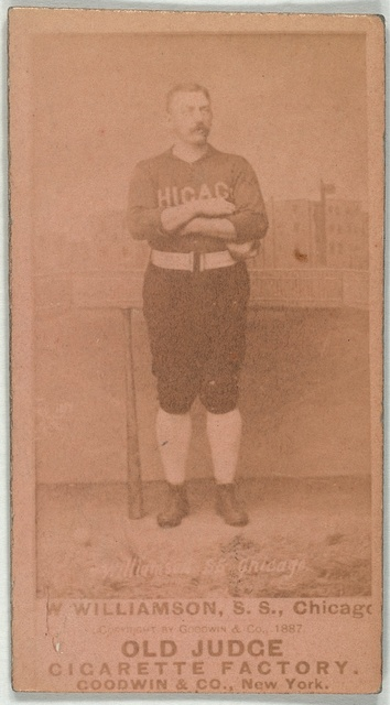 [Ned Williamson, Chicago White Stockings, baseball card portrait]