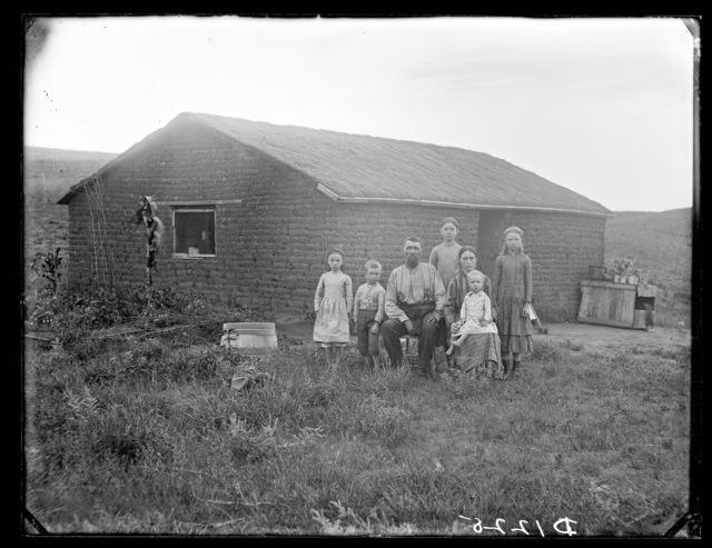 """New Settlers on the Prairie.""  East Custer County, Nebraska."