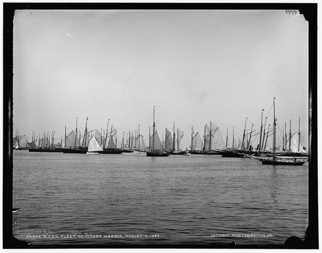 N.Y.Y.C. fleet, Newport harbor