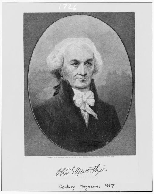 Oliv. Ellsworth / engraved by T. Johnson, from miniature by John Trumbull in the Yale School of Fine Arts.
