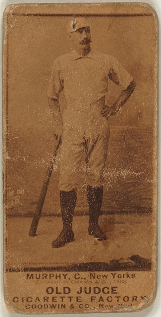 [P. J. Murphy, New York Giants, baseball card portrait]
