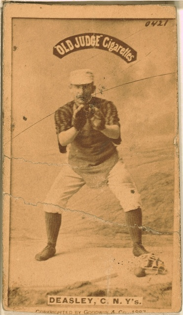 [Pat Deasley, New York Giants, baseball card portrait]