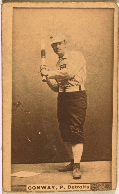 [Pete Conway, Detroit Wolverines, baseball card portrait]