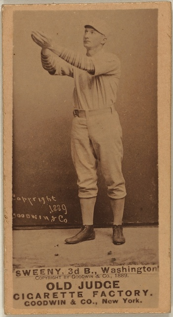 [Pete Sweeny, Washington Statesmen, baseball card portrait]