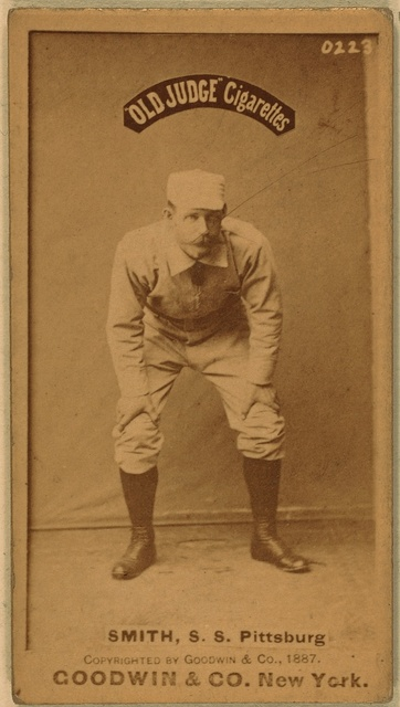 [Pop Smith, Pittsburgh Alleghenys, baseball card portrait]