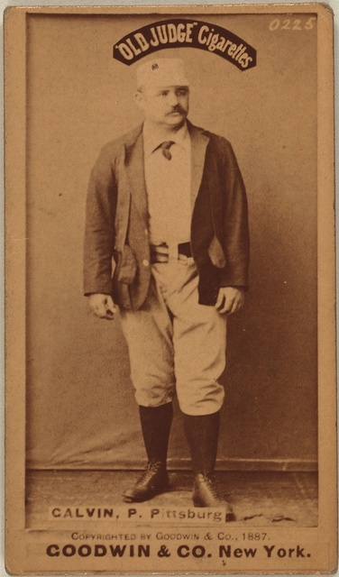 [Pud Galvin, Pittsburgh Alleghenys, baseball card portrait]