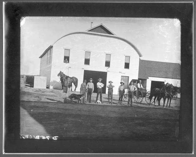 R.G. Carr hall and barn,  West Union, Nebraska