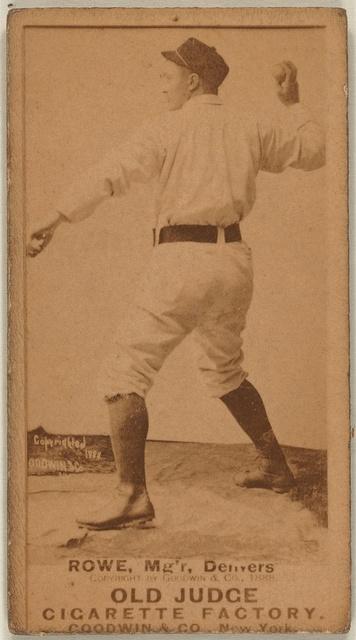 [Rowe, Denver Team, baseball card portrait]