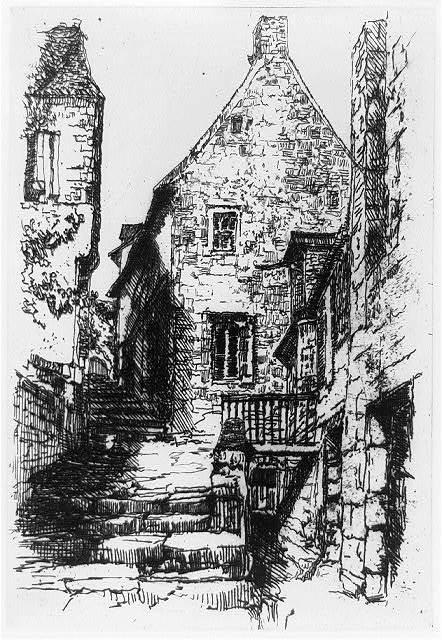 Rue de la Ville, Mont St. Michel, Brittany