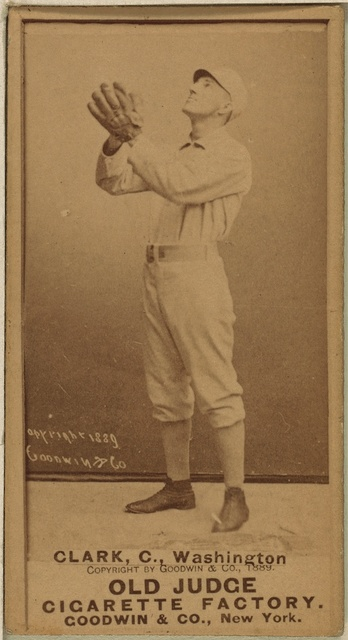 [Sam Crane, Washington Statesmen, baseball card portrait]