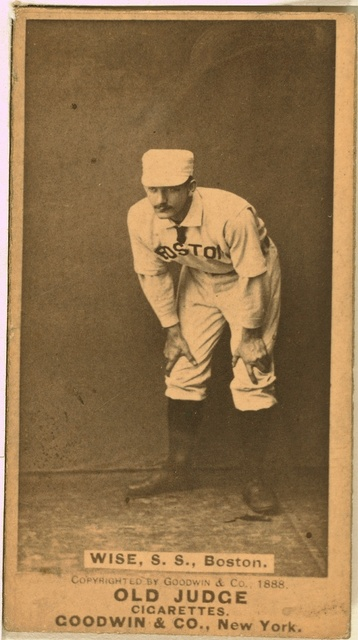 [Sam Wise, Boston Beaneaters, baseball card portrait]