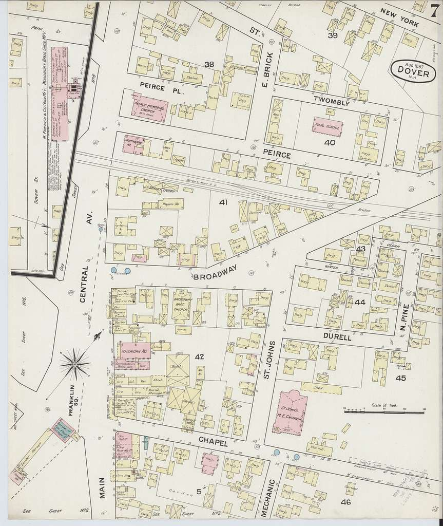 Sanborn Fire Insurance Map from Dover, Strafford County, New Hampshire