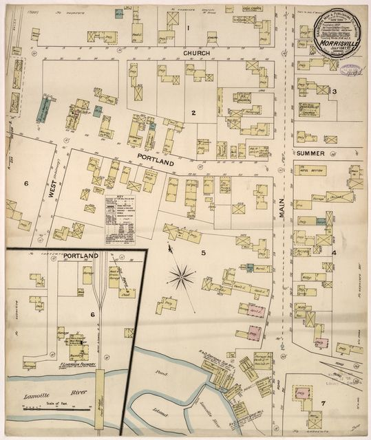 Sanborn Fire Insurance Map from Morrisville, Lamoille County, Vermont.