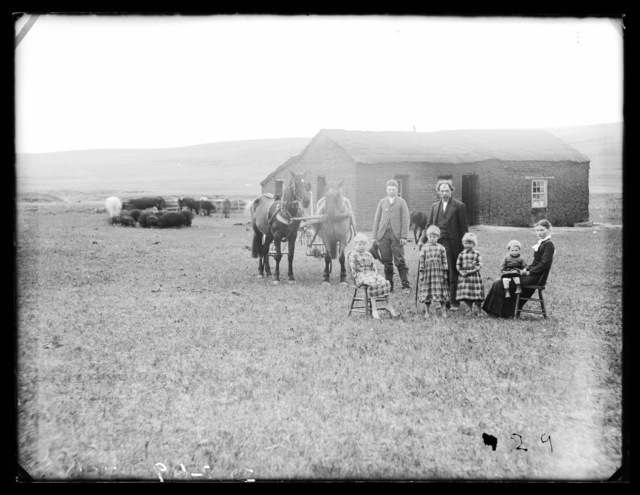 Senator Ottun and Family, Round Valley, Custer Count, Nebraska.