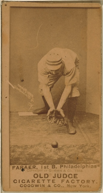 [Sid Farrar, Philadelphia Quakers, baseball card portrait]