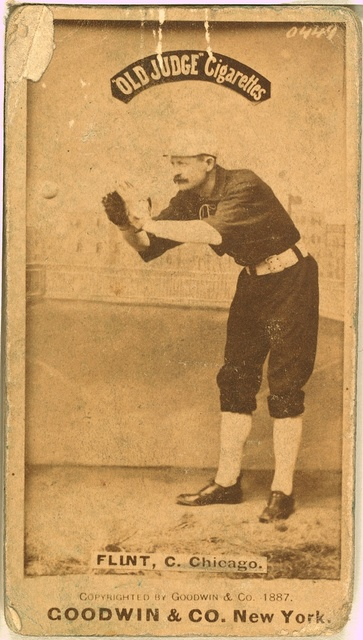 [Silver Flint, Chicago White Stockings, baseball card portrait]