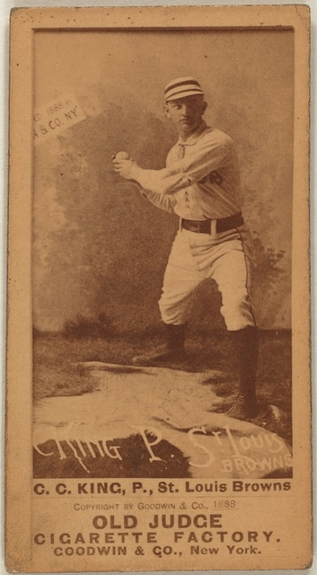 [Silver King, St. Louis Browns, baseball card portrait]