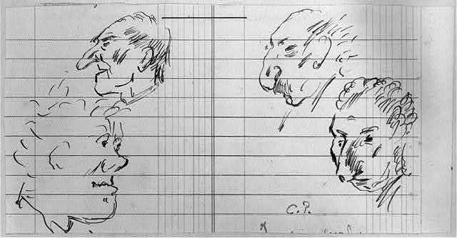 [Sketches of heads]