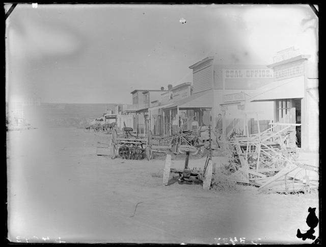 South side of main street, Ansley, Custer County, Nebraska.