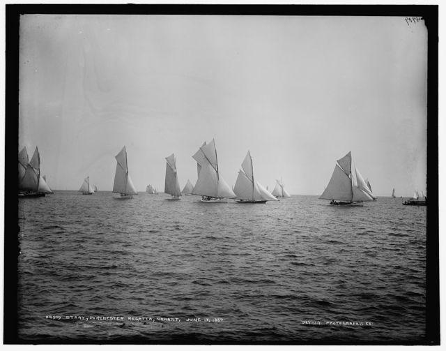 Start, Dorchester regatta, Nahant