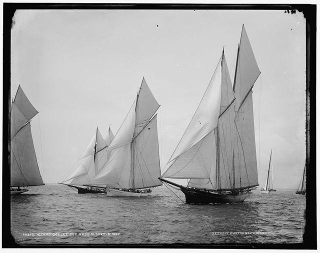 Start, Goelet Cup Race, August 5, 1887
