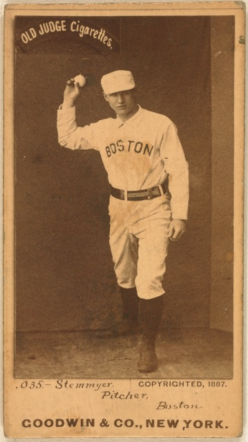 [Stemmeyer, Boston Beaneaters, baseball card portrait]