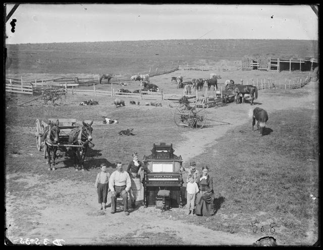 The David Hilton family near Weissert, Custer County, Nebraska.