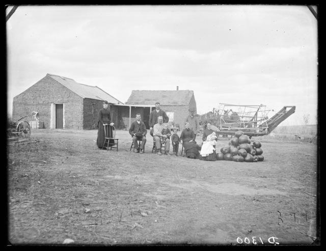 The Garness family, Dry Valley, Custer County, Nebraska.