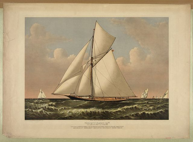 """""""Thistle"""": cutter yacht, designed by G.L. Watson. built by D.W. Henderson & Co. Glasgow. owned by Mr. James Bell, Glasgow Scotland"""