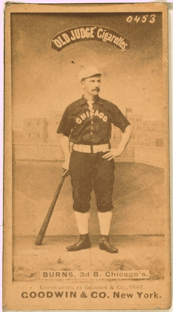 [Thomas Burns, Chicago White Stockings, baseball card portrait]