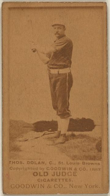 [Thos. Dolan, St. Louis Browns, baseball card portrait]