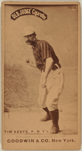 [Tim Keefe, New York Giants, baseball card portrait]