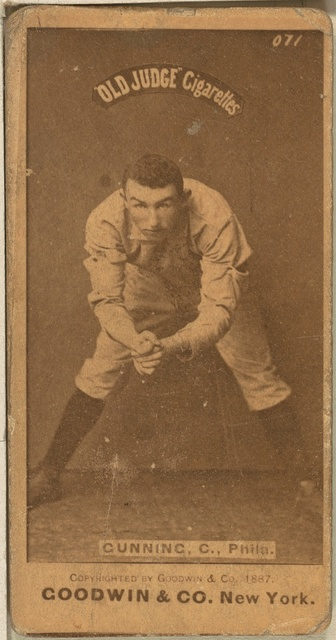 [Tom Gunning, Philadelphia Quakers, baseball card portrait]