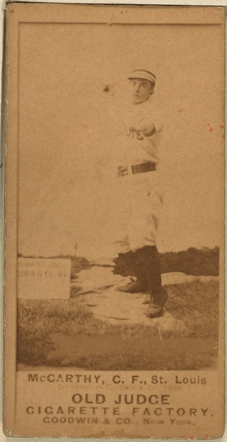 [Tommy McCarthy, St. Louis Browns, baseball card portrait]